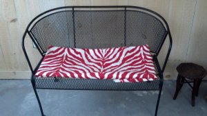 Zebra Print Fabric for screened in porch furniture