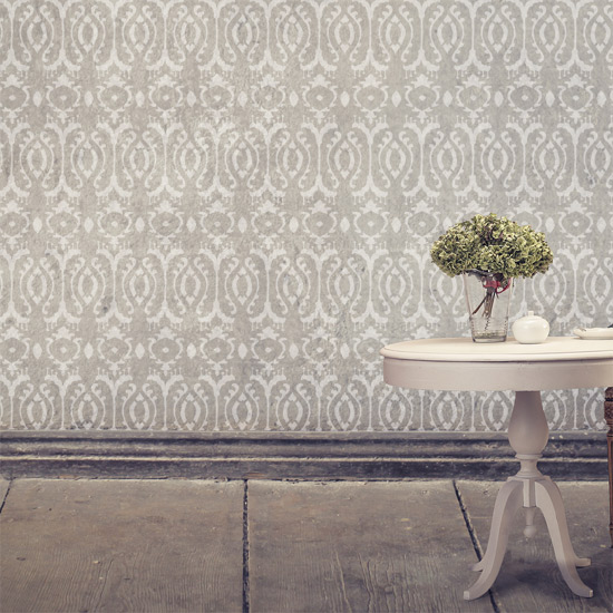 Burmese Ikat Stenciled Room