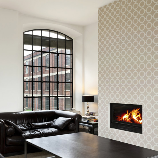 Wilcox Stencil Living Room
