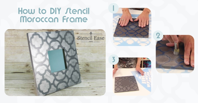DIY IKEA® Hack Stenciled Moroccan Mirror