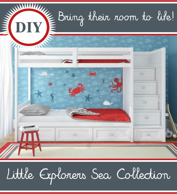 Little Explorers Sea Collection Stencils
